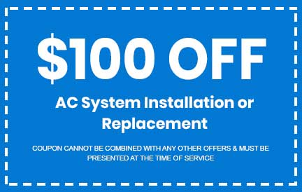 Discount on AC System Installation or Replacement