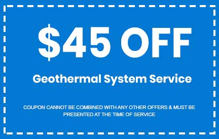Discount on Geothermal System Service