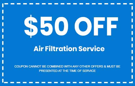 Discount on Air Filtration Service
