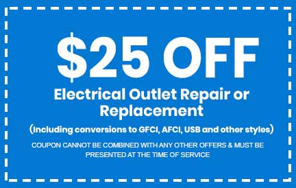 Discount on Electrical Outlet Repair or Replacement