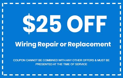 Discount on Wiring Repair or Replacement