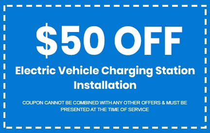 Discount on Electric Vehicle Charging Station Installation